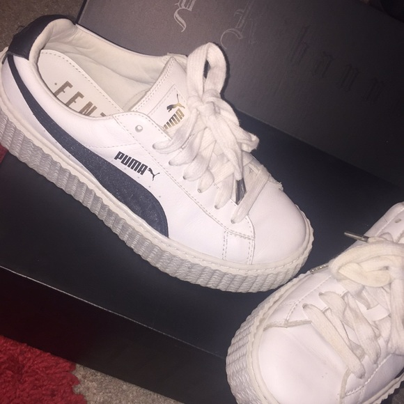 low priced 790a7 bd416 Creeper White & Black Puma Sneakers